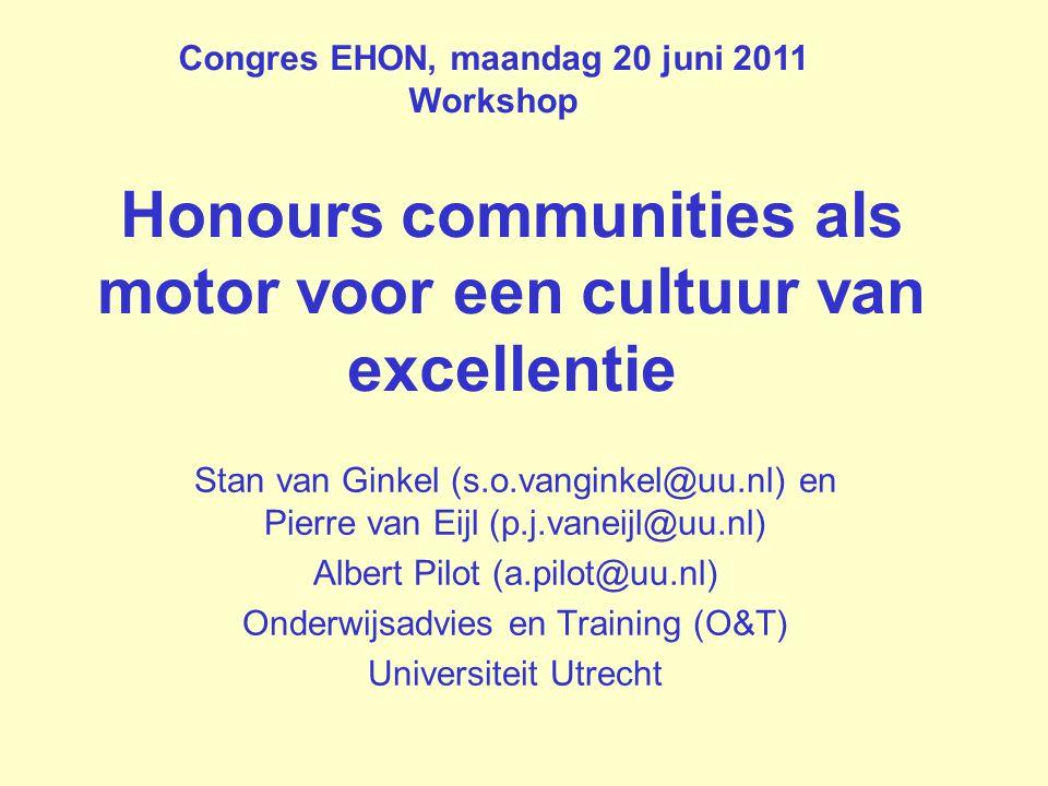Honours communities als motor voor een cultuur van excellentie