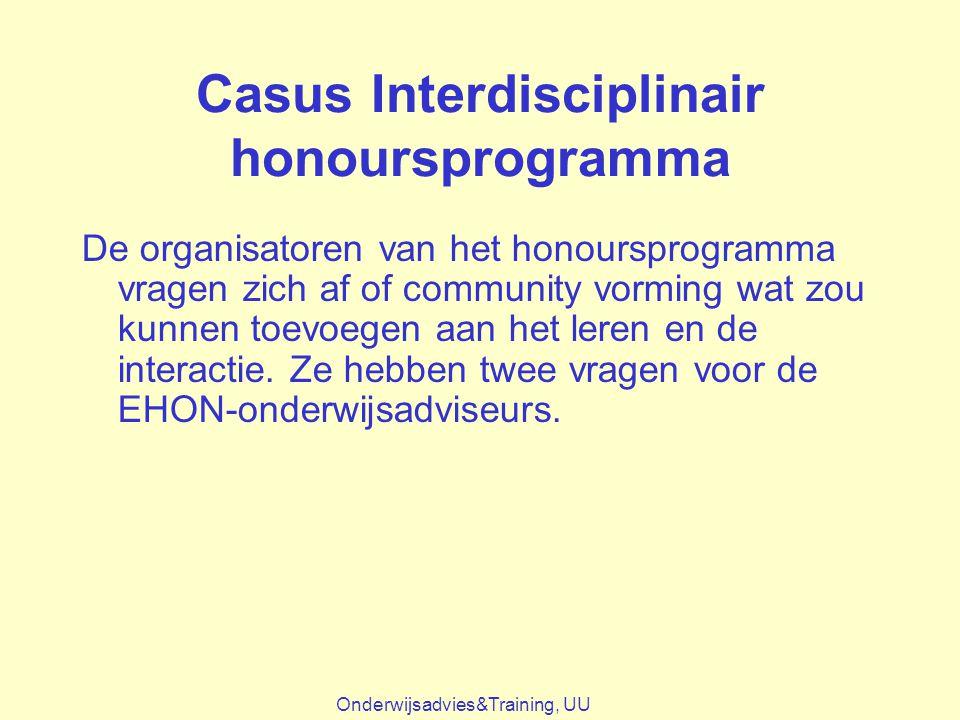Casus Interdisciplinair honoursprogramma