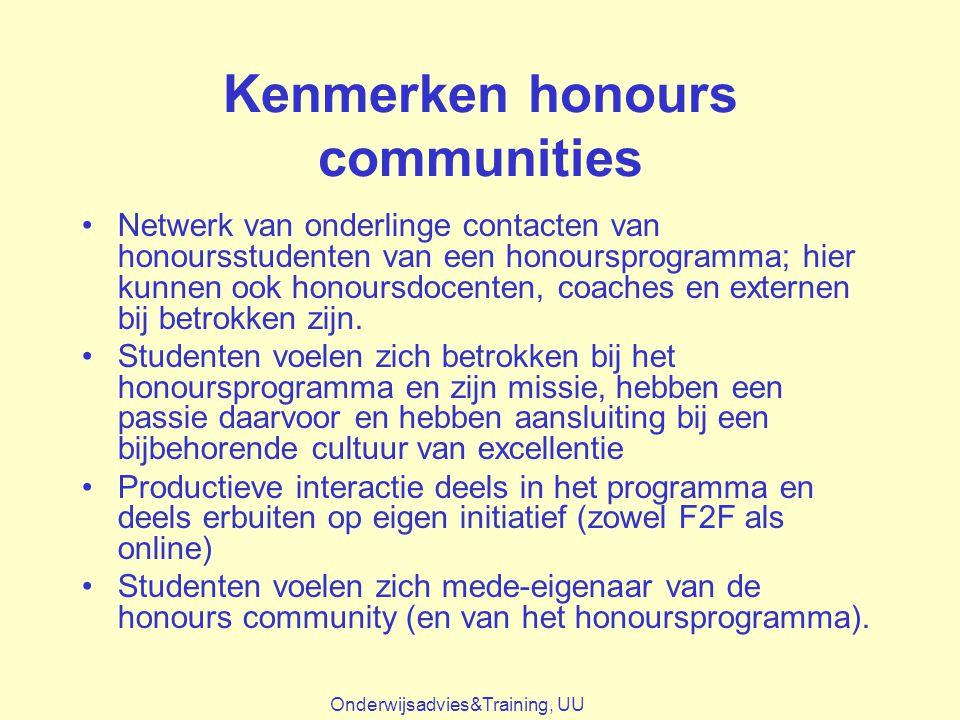 Kenmerken honours communities