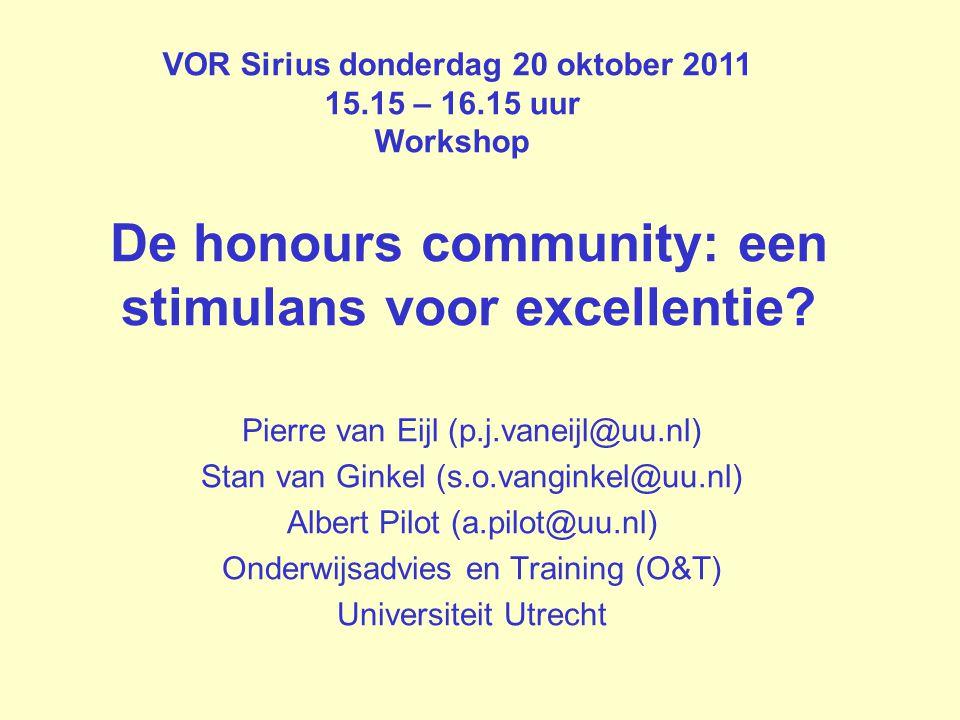 De honours community: een stimulans voor excellentie