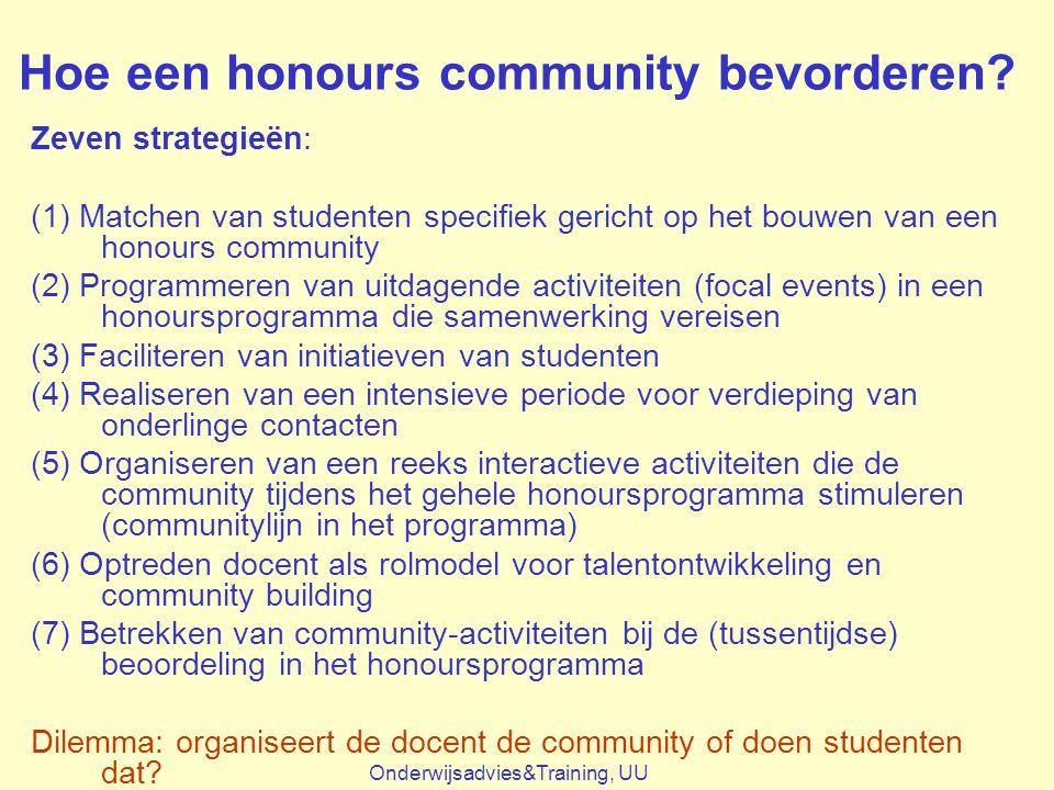 Hoe een honours community bevorderen