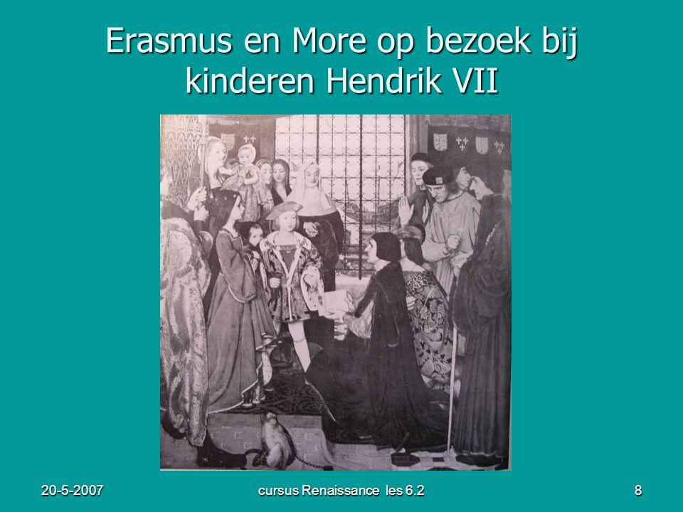 Erasmus en More op bezoek bij kinderen Hendrik VII
