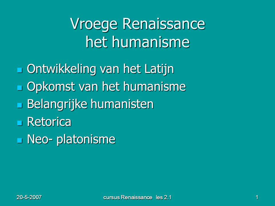 Vroege Renaissance het humanisme
