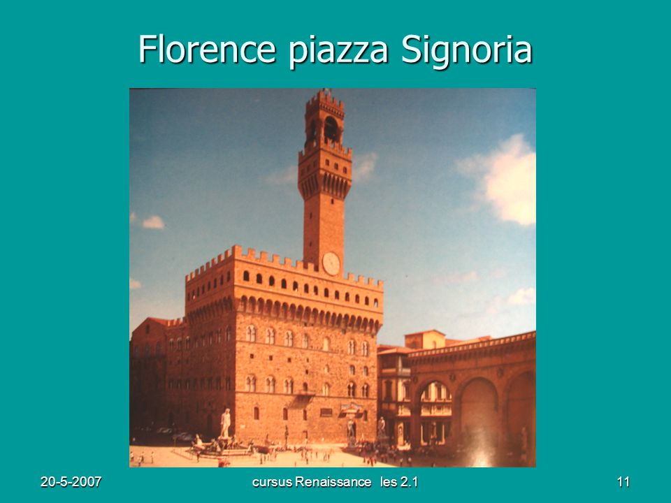 Florence piazza Signoria