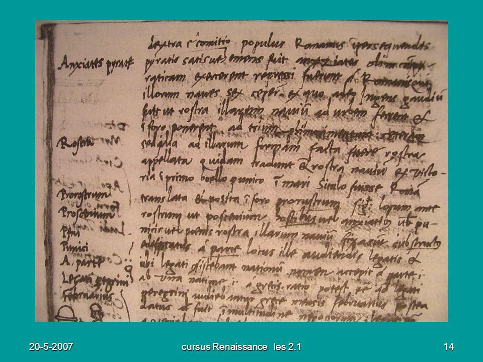 cursus Renaissance les 2.1