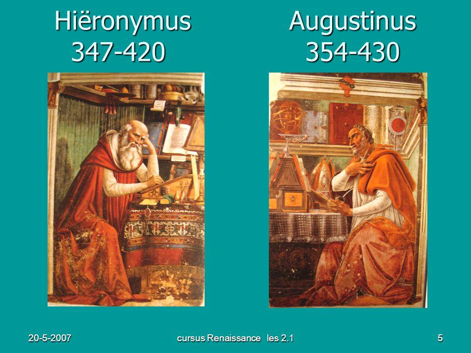 Hiëronymus Augustinus 347-420 354-430