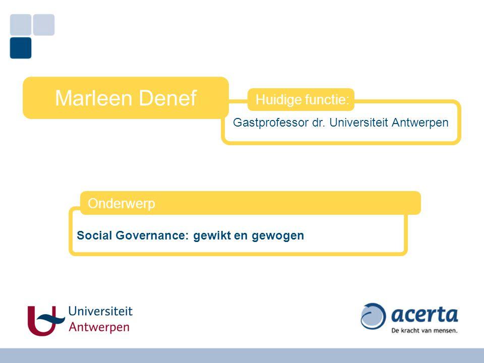 Gastprofessor dr. Universiteit Antwerpen