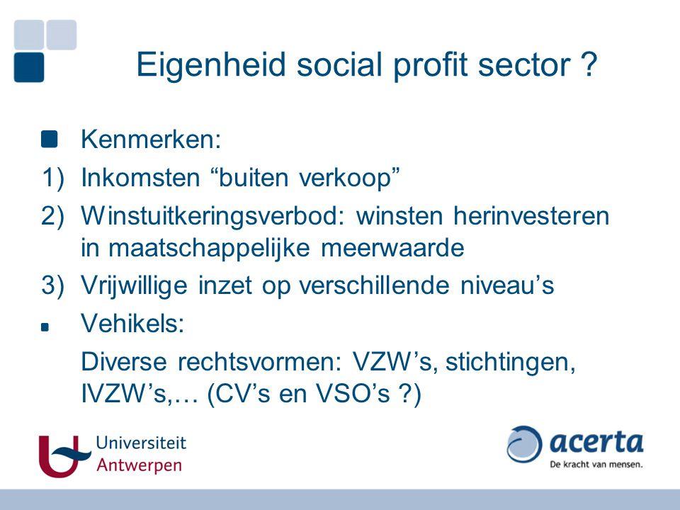 Eigenheid social profit sector