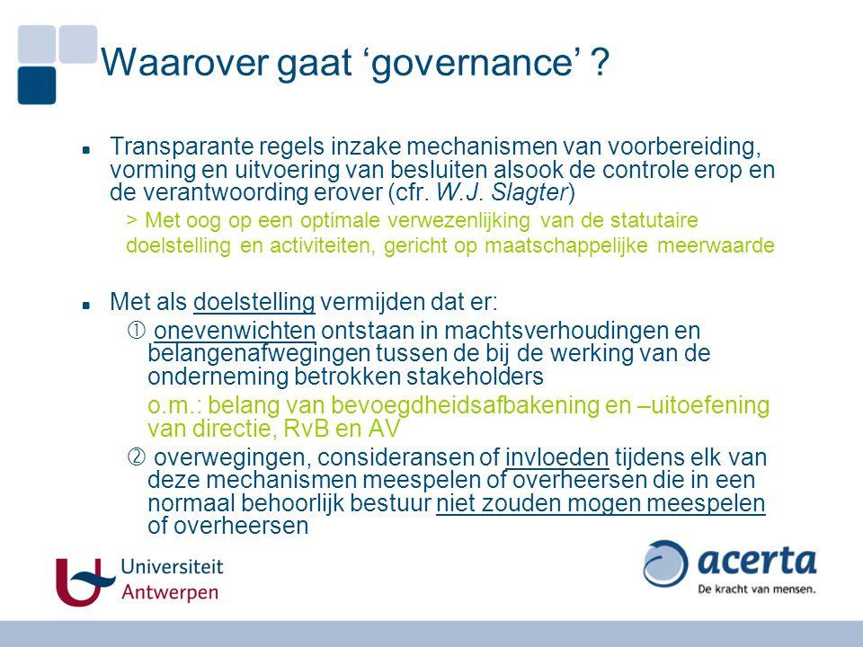 Waarover gaat 'governance'