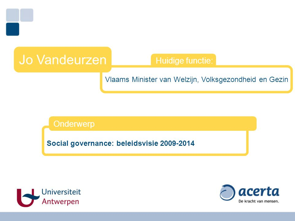 Vlaams Minister van Welzijn, Volksgezondheid en Gezin