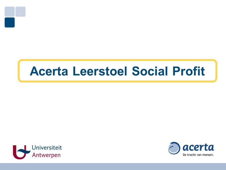 Acerta Leerstoel Social Profit