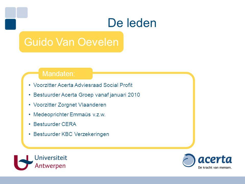 De leden Guido Van Oevelen Mandaten: