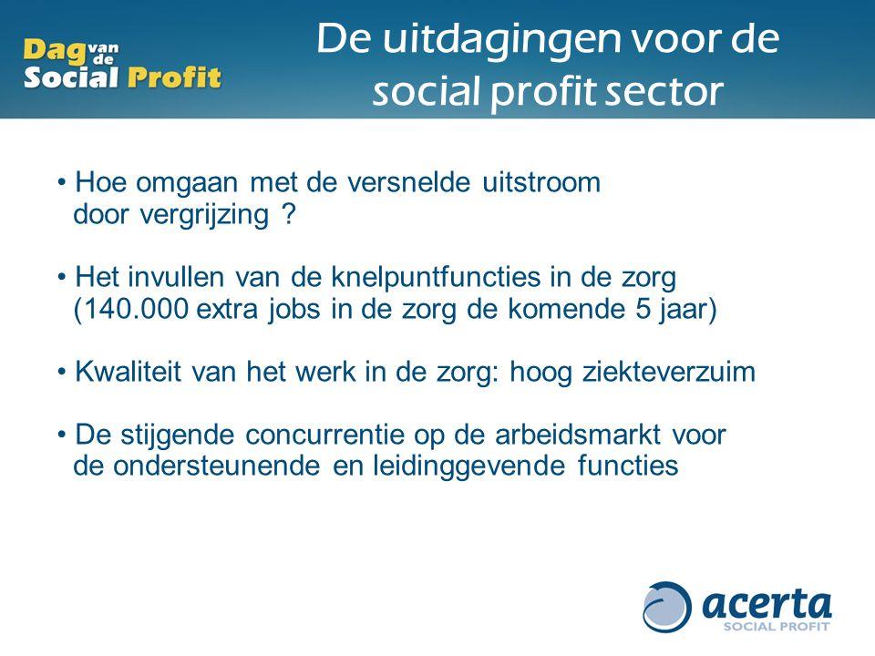 De uitdagingen voor de social profit sector
