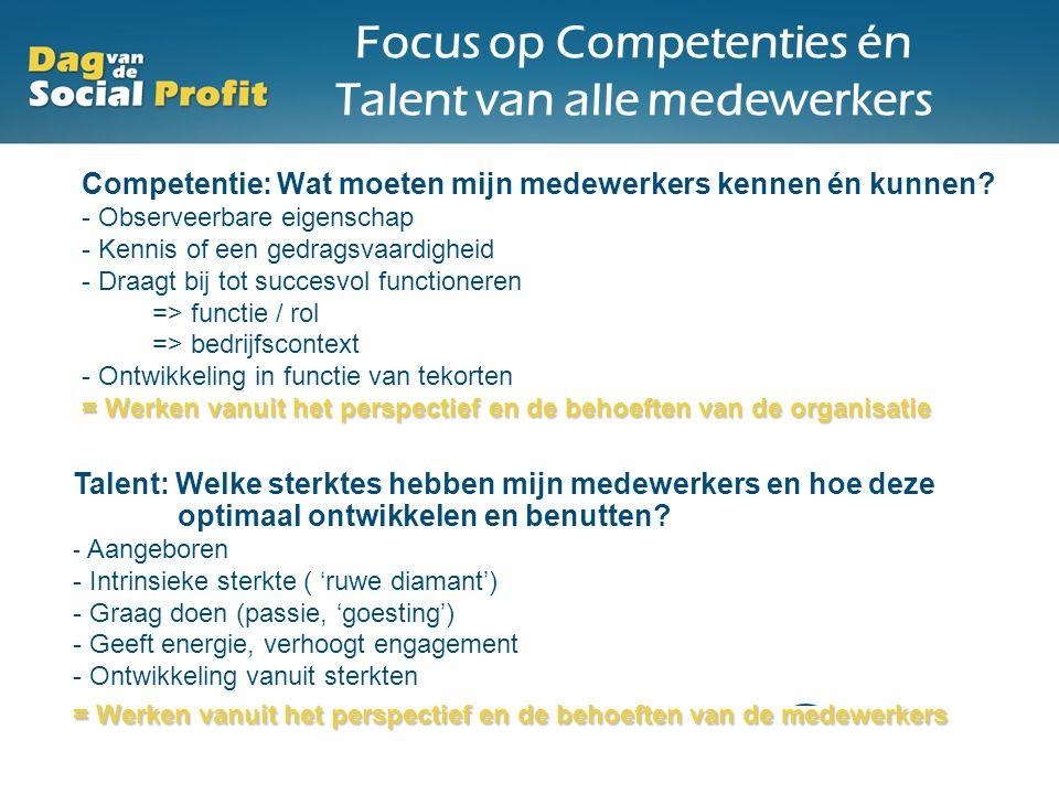 Focus op Competenties én Talent van alle medewerkers