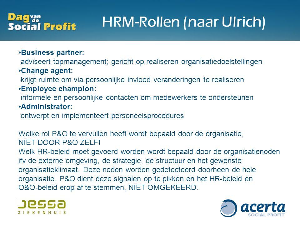 HRM-Rollen (naar Ulrich)