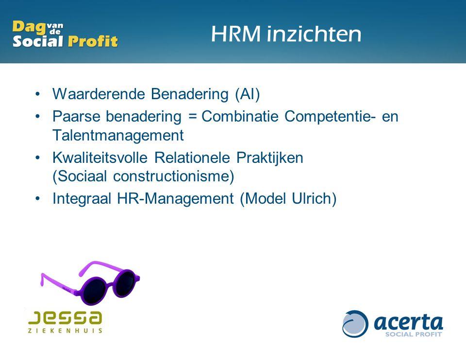 HRM inzichten Waarderende Benadering (AI)