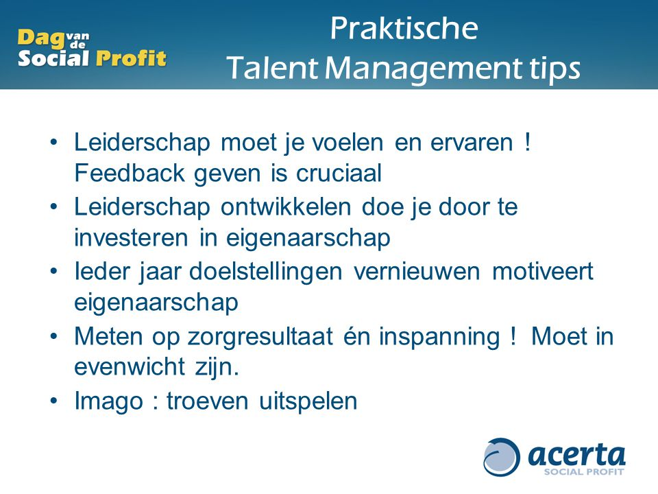 Praktische Talent Management tips
