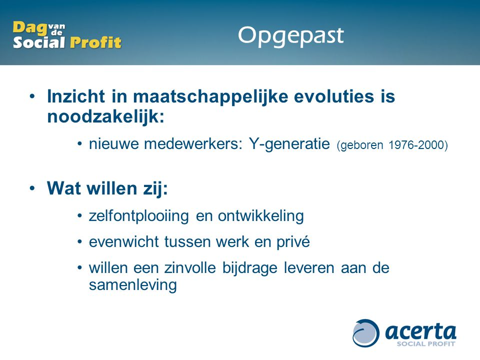 Het aanwezige talent beheren in de social profitsector christa van criekingen algemeen - Kaart evenwicht tussen werk en ...