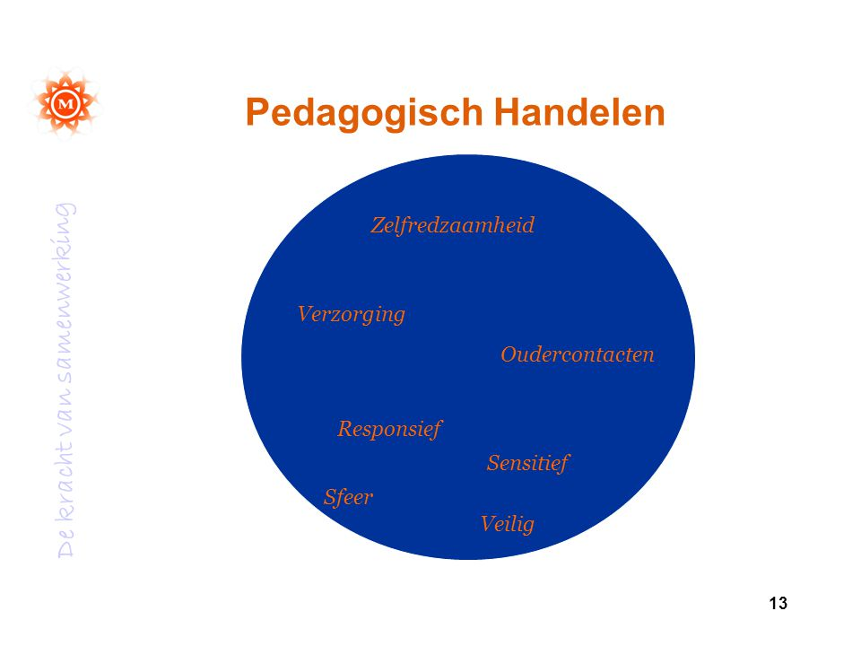 Pedagogisch Handelen Zelfredzaamheid Verzorging Oudercontacten