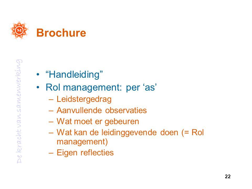 Brochure Handleiding Rol management: per 'as' Leidstergedrag