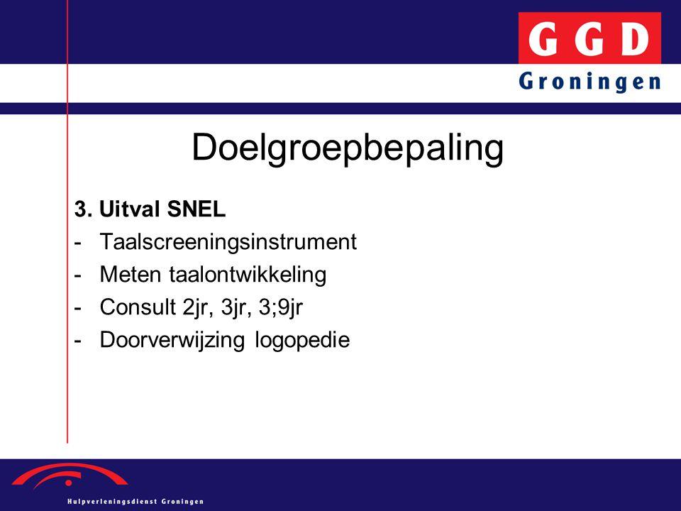 Doelgroepbepaling 3. Uitval SNEL Taalscreeningsinstrument