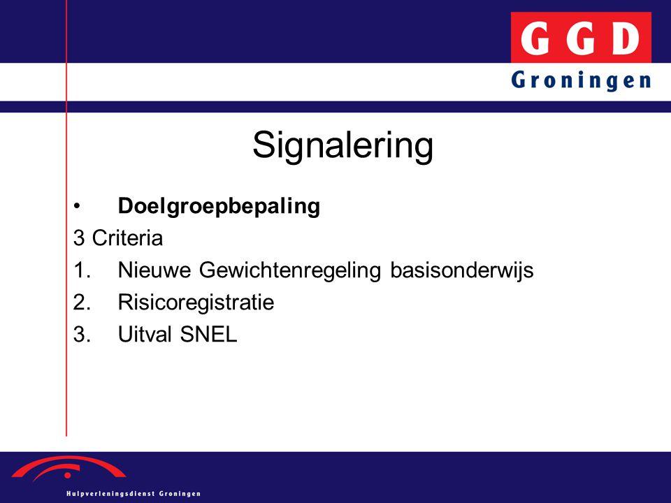 Signalering Doelgroepbepaling 3 Criteria