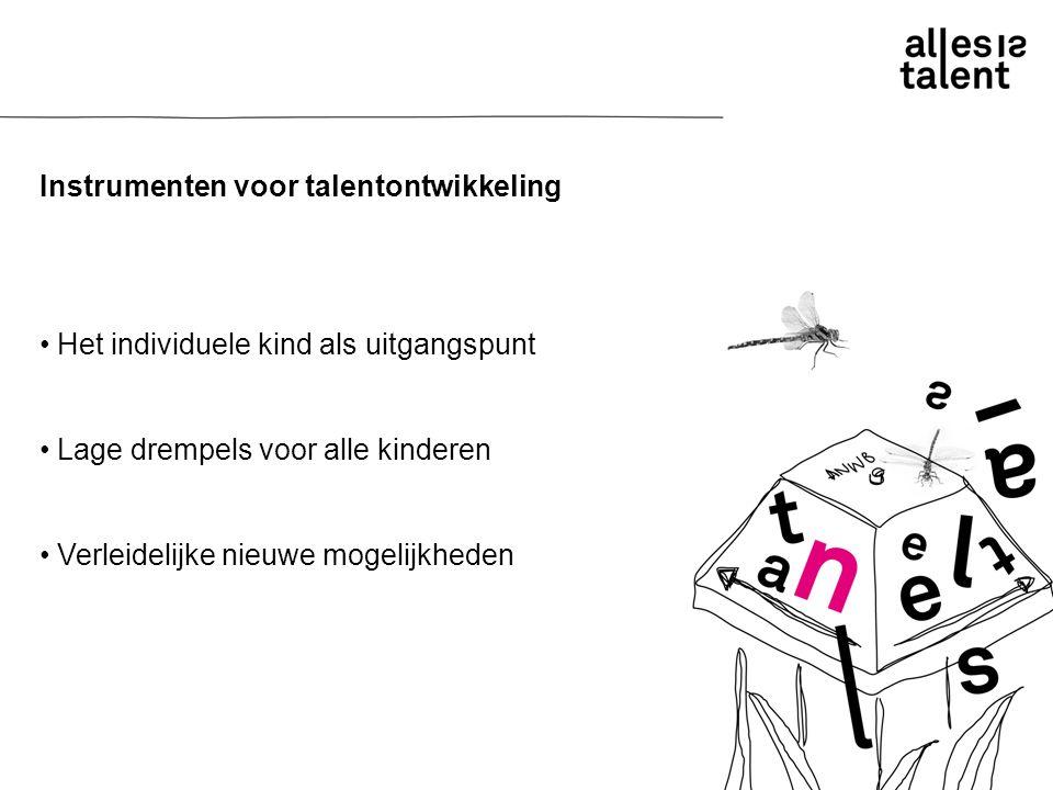 Instrumenten voor talentontwikkeling