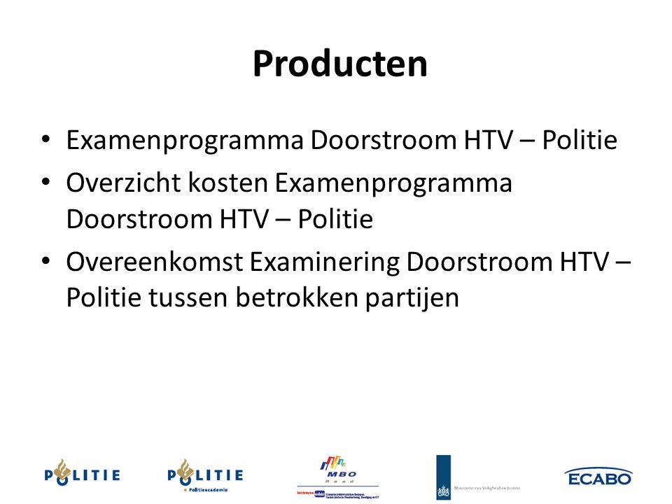Producten Examenprogramma Doorstroom HTV – Politie