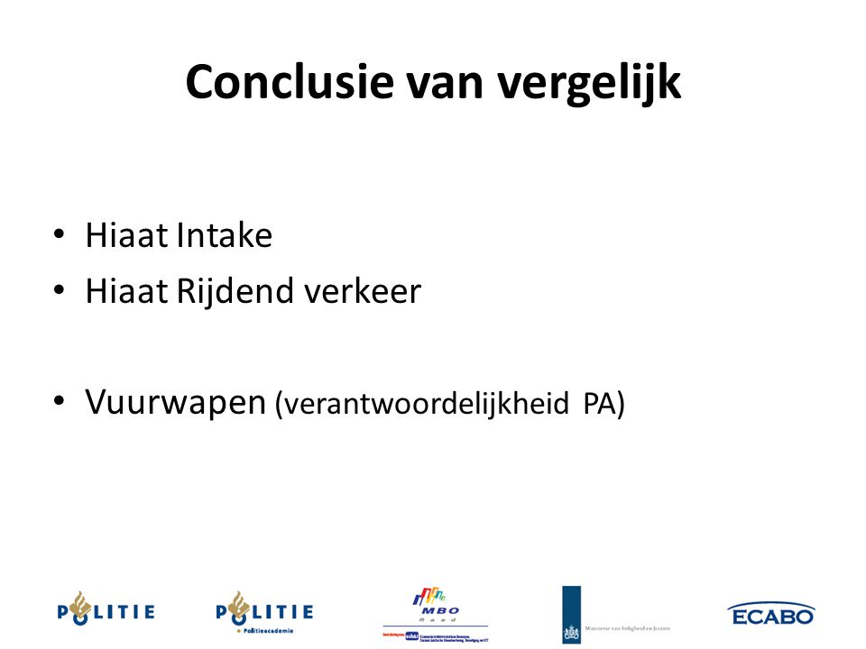 Conclusie van vergelijk
