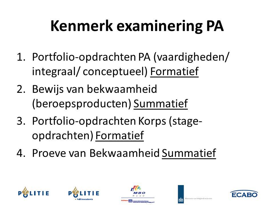 Kenmerk examinering PA