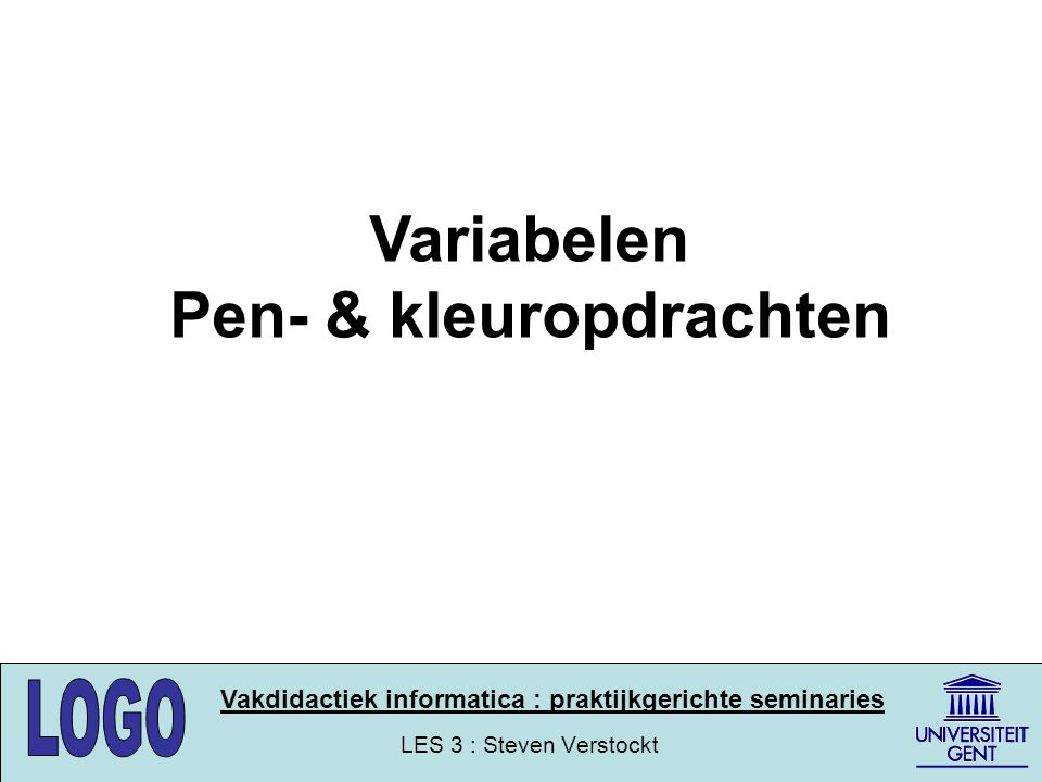 Pen- & kleuropdrachten