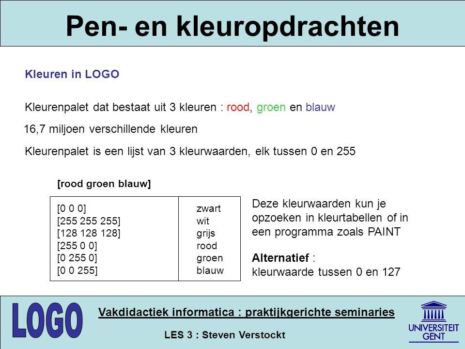 Pen- en kleuropdrachten