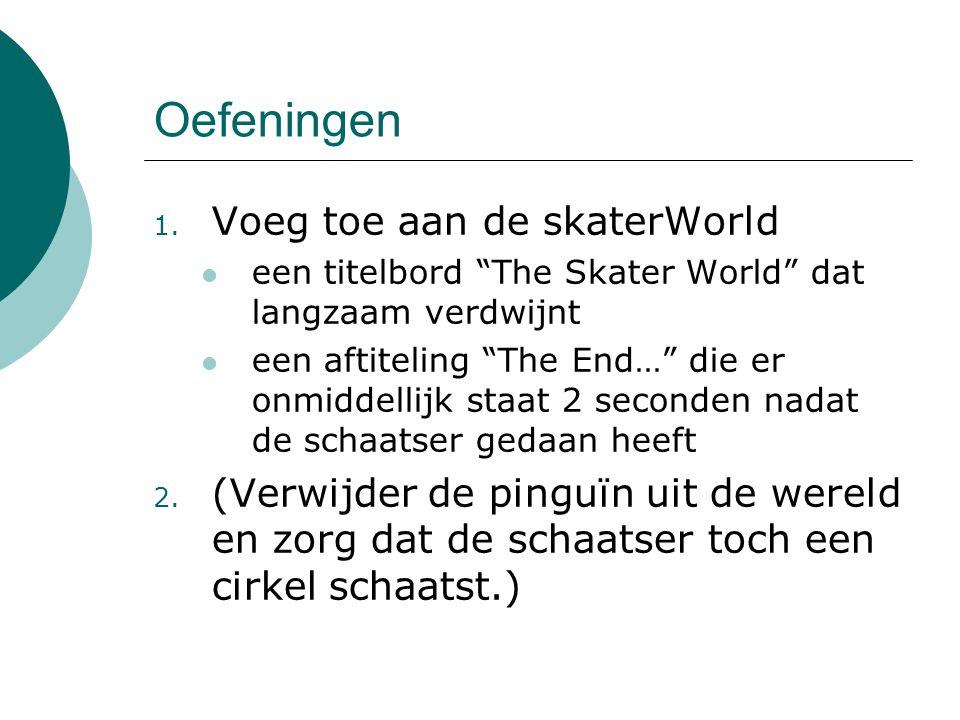 Oefeningen Voeg toe aan de skaterWorld