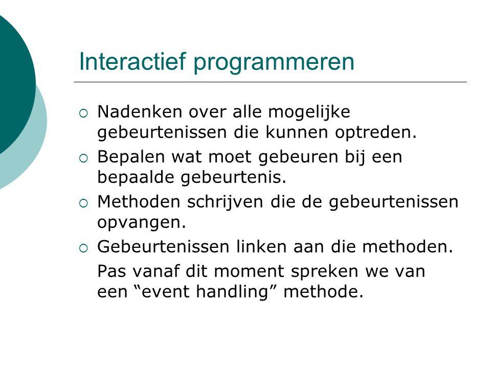 Interactief programmeren