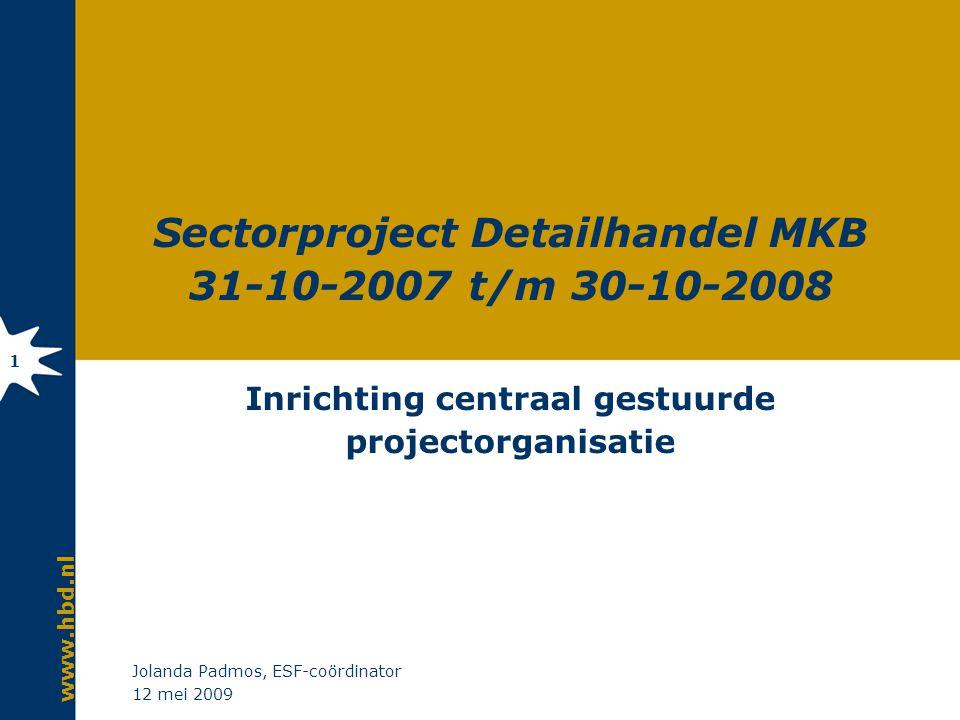 Sectorproject Detailhandel MKB 2007