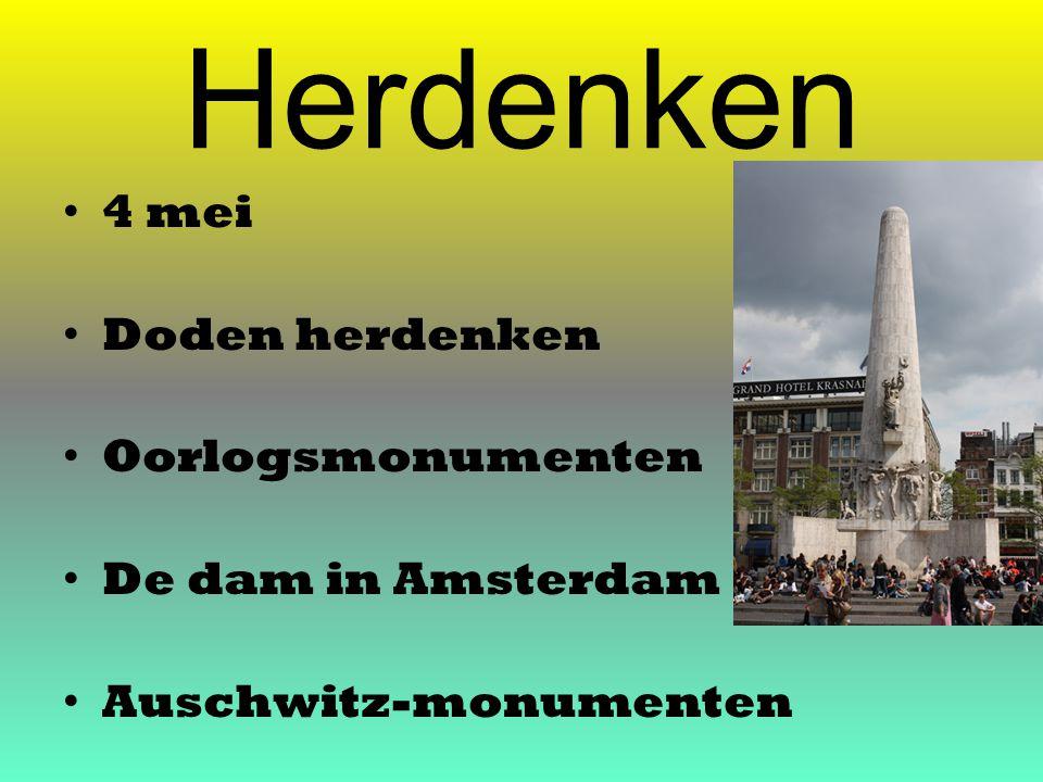 Herdenken 4 mei Doden herdenken Oorlogsmonumenten De dam in Amsterdam