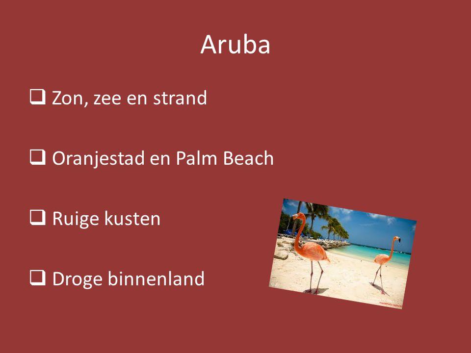 Aruba Zon, zee en strand Oranjestad en Palm Beach Ruige kusten