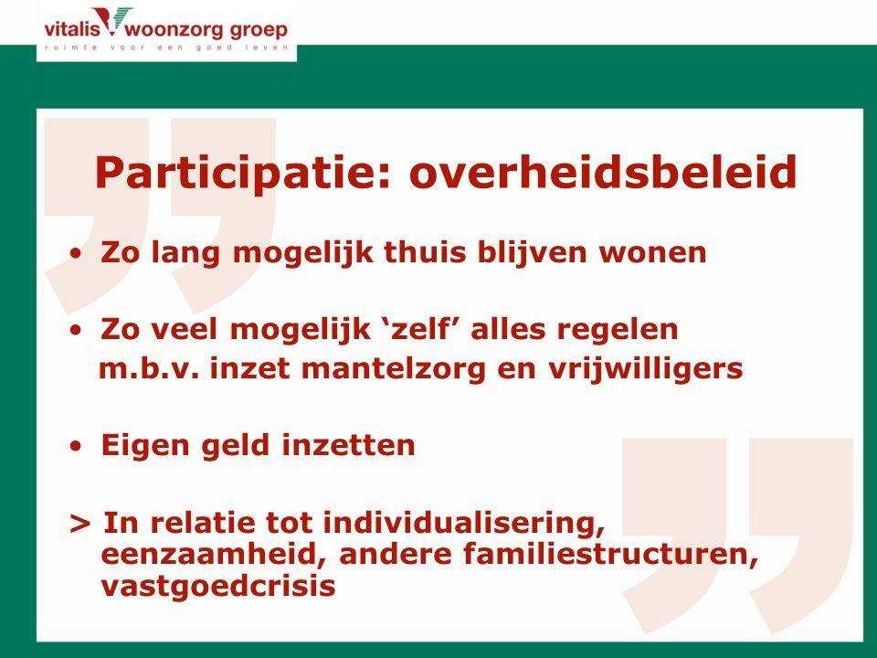 Participatie: overheidsbeleid
