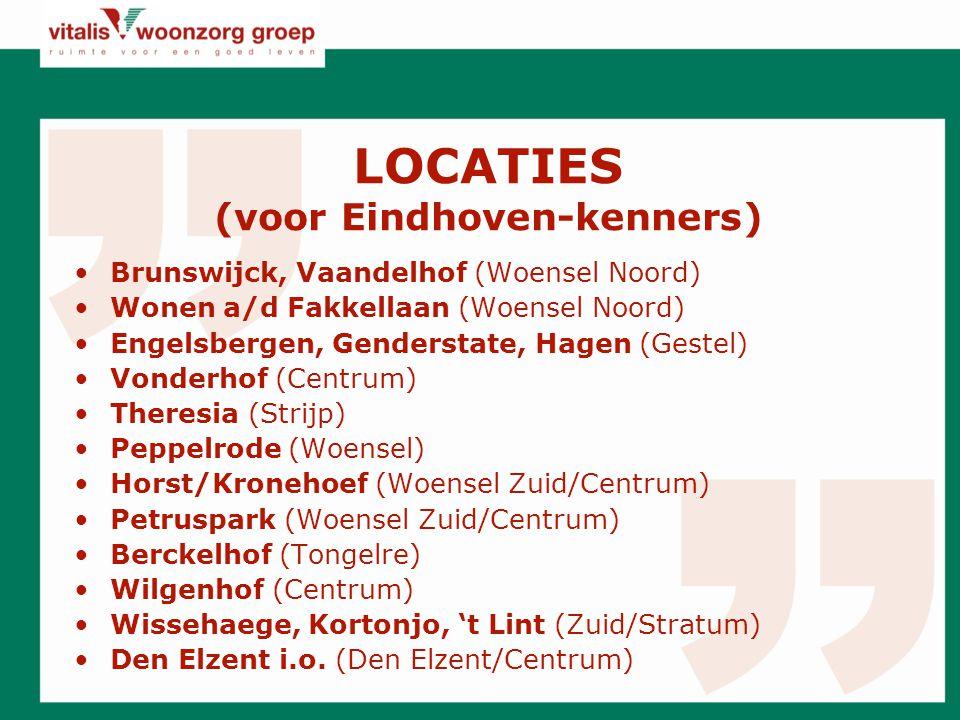 LOCATIES (voor Eindhoven-kenners)