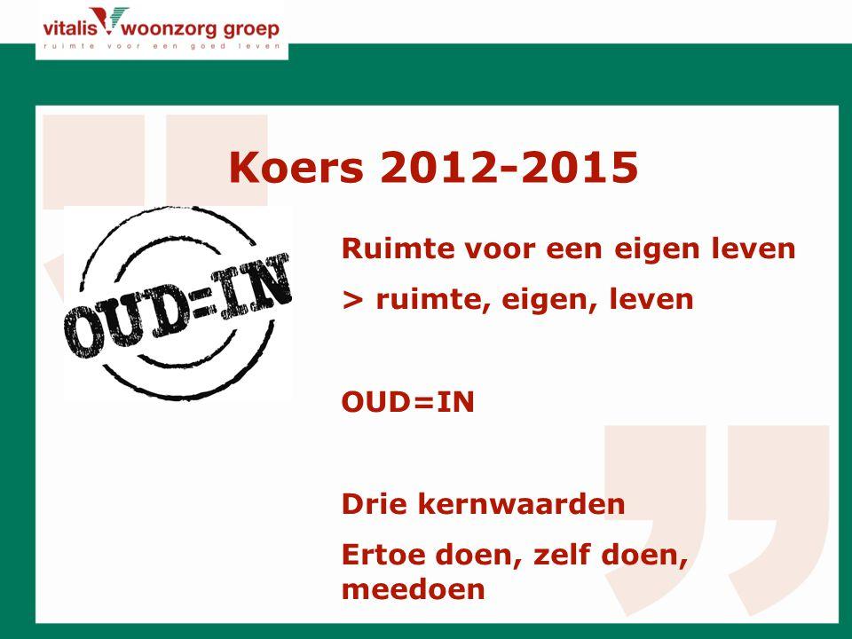 Koers 2012-2015 Ruimte voor een eigen leven > ruimte, eigen, leven