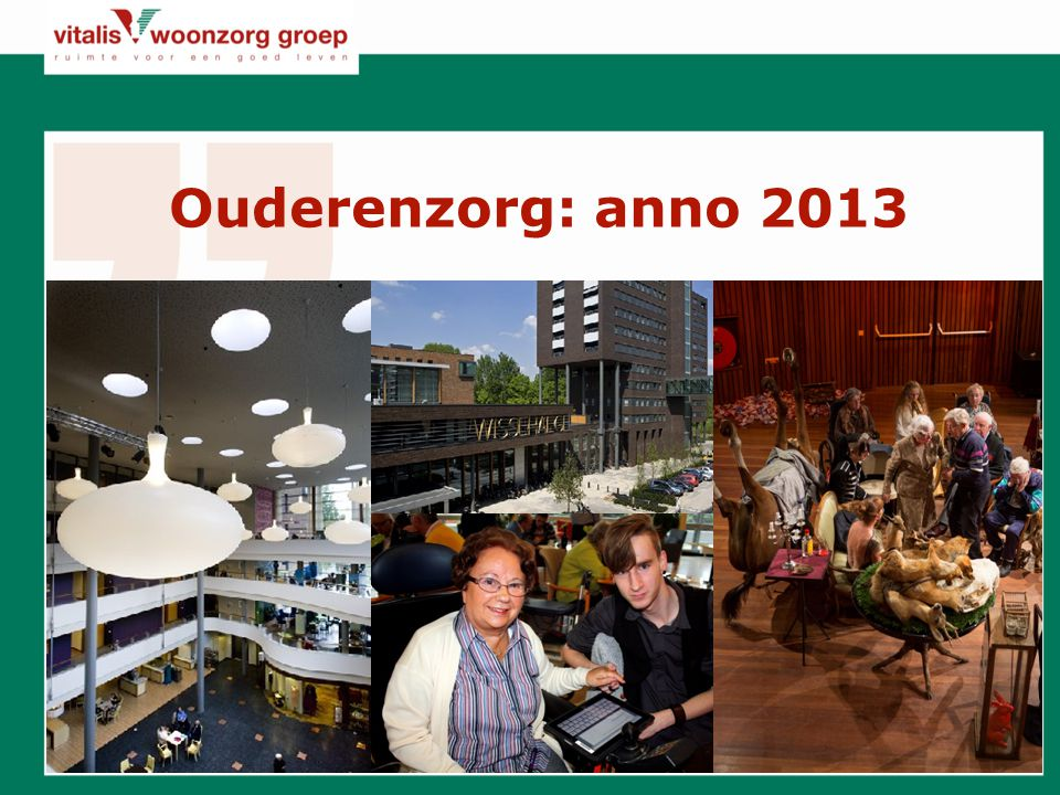 Ouderenzorg: anno 2013