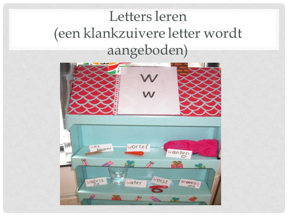 Letters leren (een klankzuivere letter wordt aangeboden)