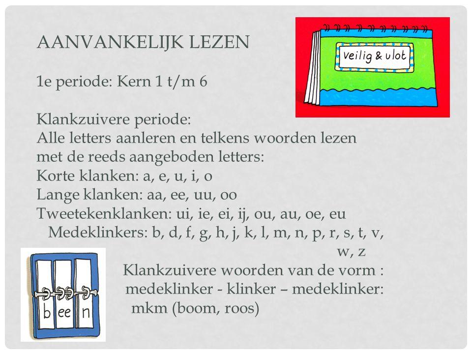 AANVANKELIJK LEZEN 1e periode: Kern 1 t/m 6 Klankzuivere periode: