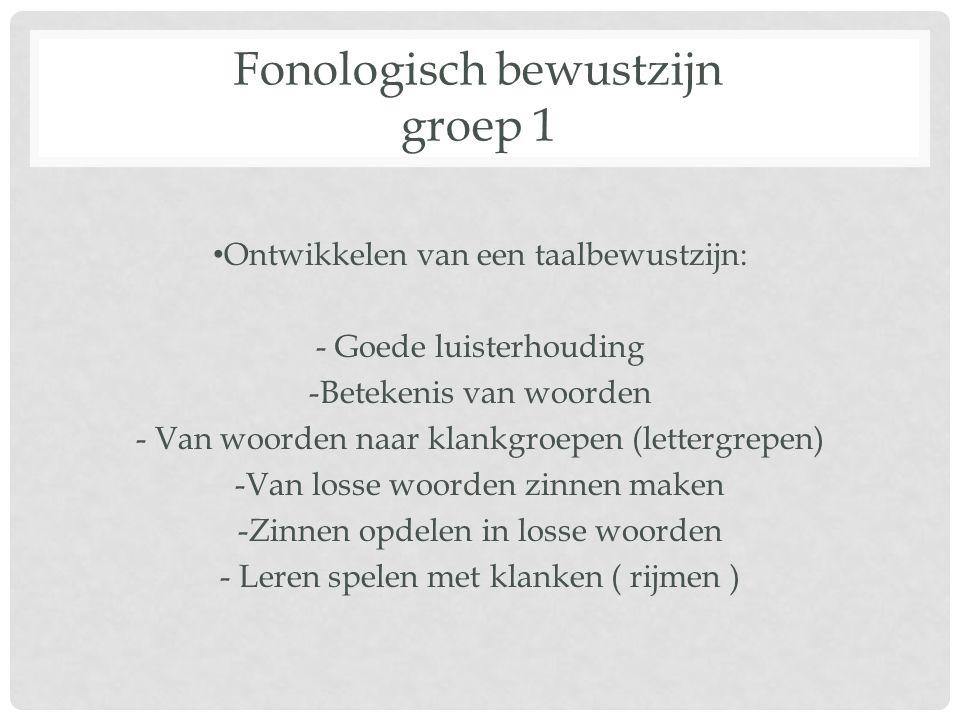 Fonologisch bewustzijn groep 1