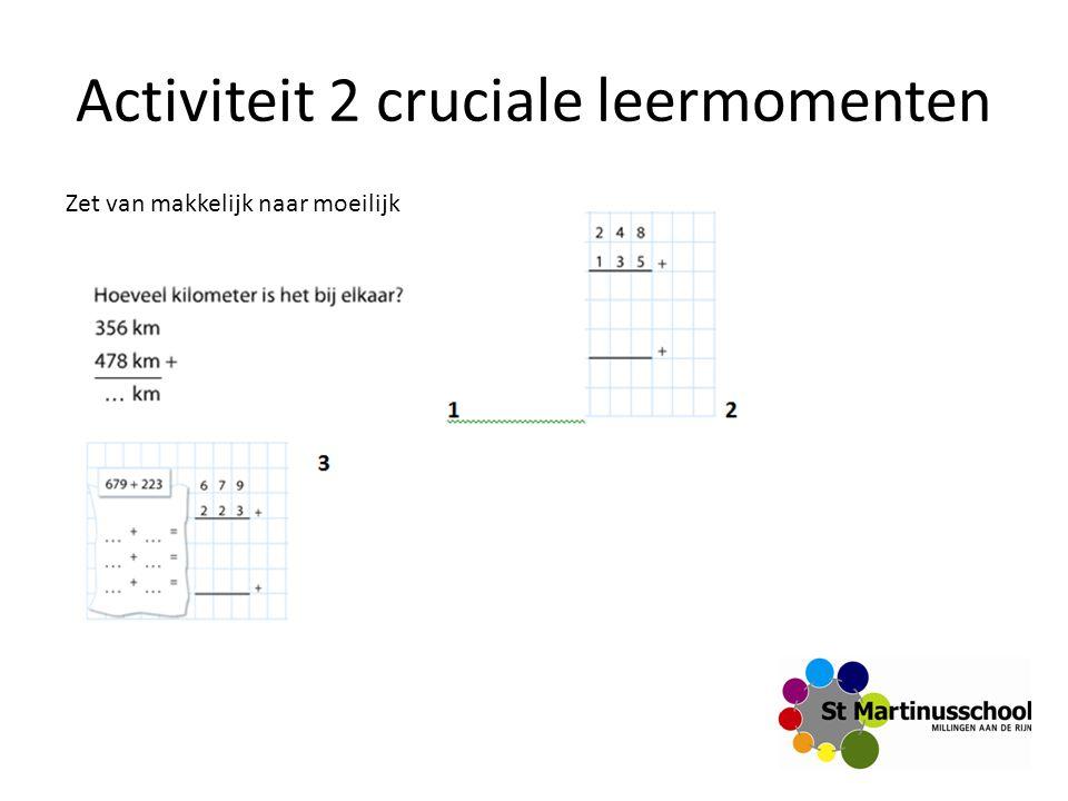 Activiteit 2 cruciale leermomenten