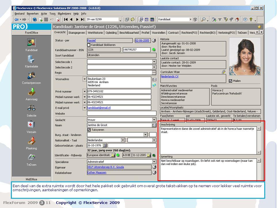 Een deel van de extra ruimte wordt door het hele pakket ook gebruikt om overal grote tekstvakken op te nemen voor lekker veel ruimte voor omschrijvingen, aantekeningen of opmerkingen.