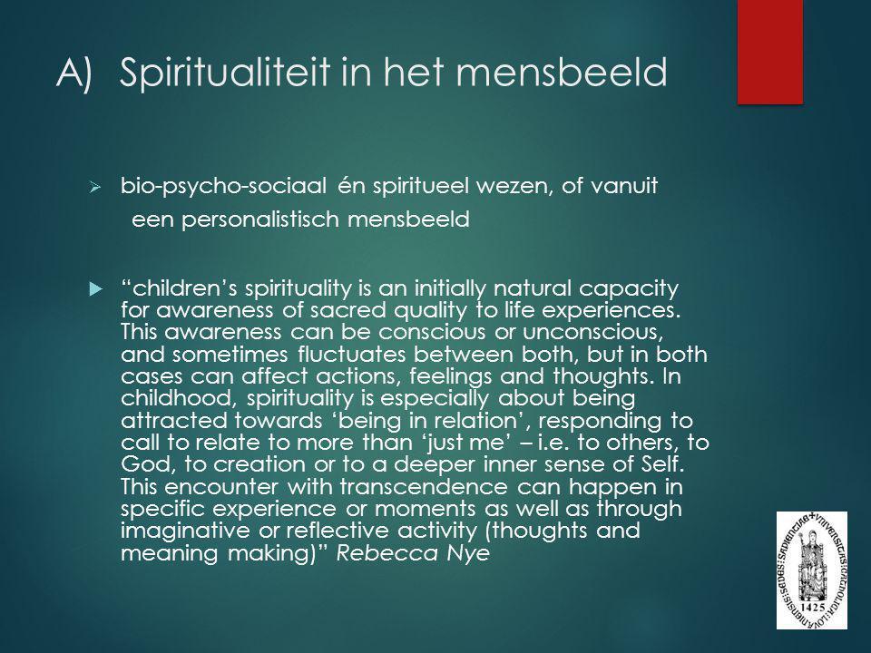 A) Spiritualiteit in het mensbeeld