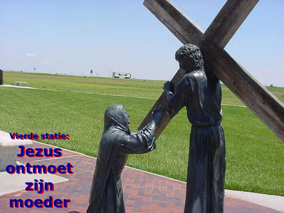 Vierde statie: Jezus ontmoet zijn moeder