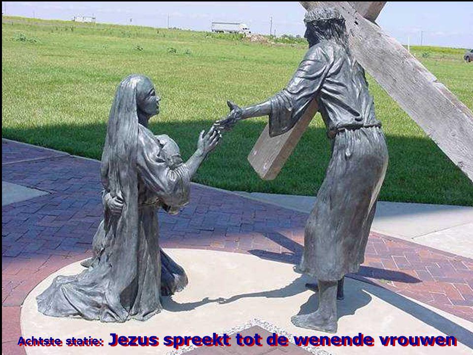 Achtste statie: Jezus spreekt tot de wenende vrouwen