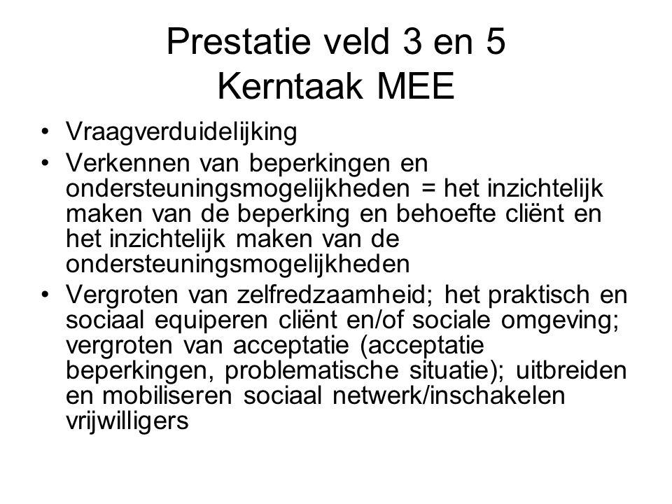Prestatie veld 3 en 5 Kerntaak MEE